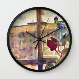 View over Broadway, NYC Wall Clock