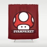 logo Shower Curtains featuring Logo by Svampriket
