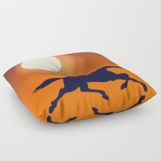 Racing Sunset Floor Pillow