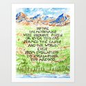 Bible Verse Illustration Psalm 90:2, Picture of Mountains by artistadron