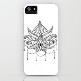 Geometric patterns, Indian style, lotus flower iPhone Case