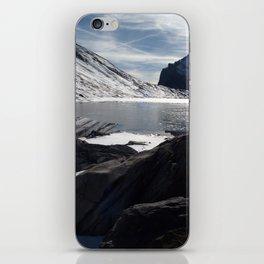 Daubensee lake above Leukerbad, Valais, Swiss Alps III iPhone Skin