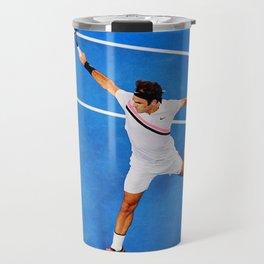 Flying Federer Tennis Backhand Travel Mug
