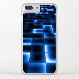 Sci Fi UFO Landing Pad Clear iPhone Case