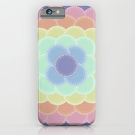 Layered Lace Circles iPhone Case