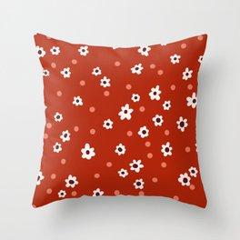 90s Autumn Daisies Throw Pillow