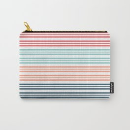 Coral Beach Stripe 2 Carry-All Pouch