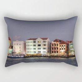Willemstad Curacao nightly Panorama Rectangular Pillow