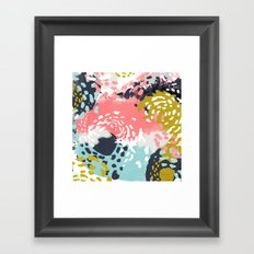 Athena - abstract painting hipster home decor trendy color palette art gifts Framed Art Print