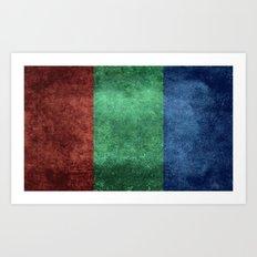 The flag of the planet Mars Art Print