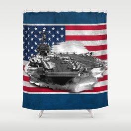 Nimitz Class Aircraft Carrier Shower Curtain