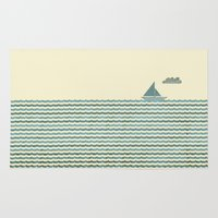 sailboat Area & Throw Rugs featuring SailBoat by Jeremy Lobdell