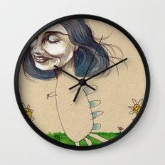 DINOSAUR GIRL Wall Clock