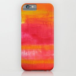 'Summer Day'  Orange Red Yellow Abstract Art iPhone Case