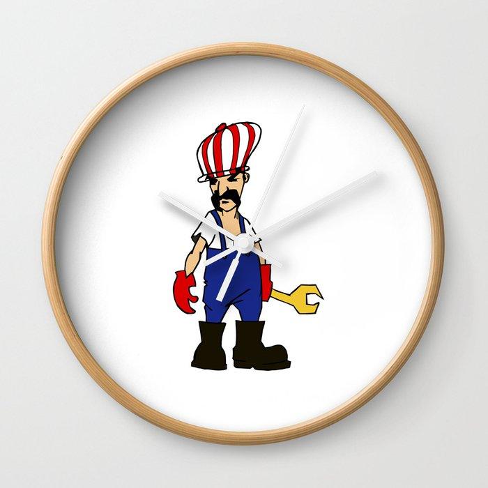 service man Wall Clock