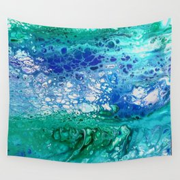 Colors of the Sea No.3 / acrylic pour art Wall Tapestry