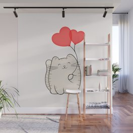 Eli, the love cat Wall Mural