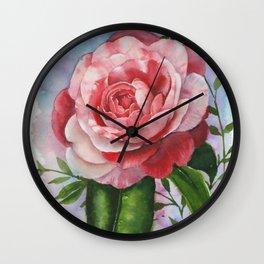 Japanese camellia Wall Clock