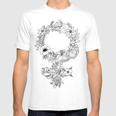 Feminist Flower  2.0 Mens Fitted Tee X-LARGE White