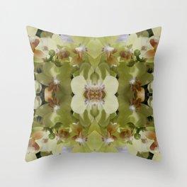 Orchid (Mandala-esque #123a) Throw Pillow