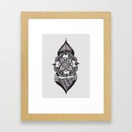 Onion Flower Framed Art Print