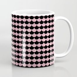 Mermaid Scales Pink Rose Gold Metallic Coffee Mug