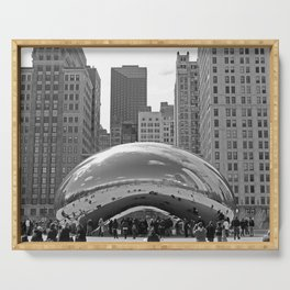 Chicago Clouds Serving Tray