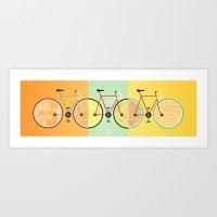 bikes Art Prints featuring Bikes by KateWadsworth