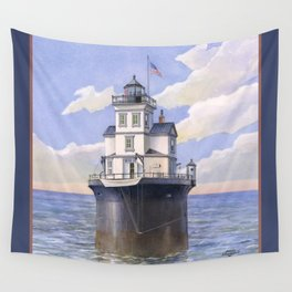 Fourteen Foot Bank Lighthouse, Delaware Wall Tapestry