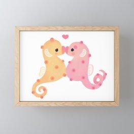 Pygmy seahorses Framed Mini Art Print