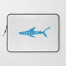 Stop Shark Finning (blue) Laptop Sleeve