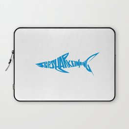Stop Shark Finning (blue) Laptop Sleeve