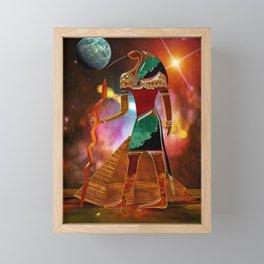 Ancient Secrets THOTH 3D Scifi Egyptian Framed Mini Art Print