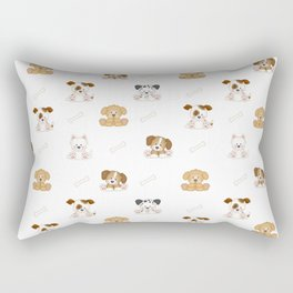 Puppy Dog Baby Nursery Wall Art Rectangular Pillow