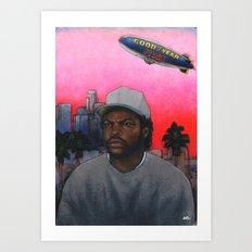 ICE CUBE'S A PIMP! (original) hip hop portrait Art Print