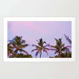 Swaying Palm Trees Art Print