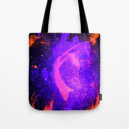 Vivid Violet Purple Abstract Splatter Painting Tote Bag