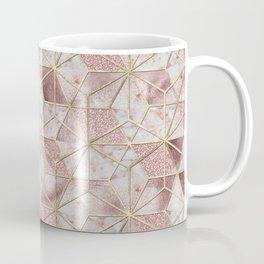 Modern rose gold geometric star flower pattern Coffee Mug