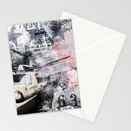 New York  street mixed media art Stationery Cards