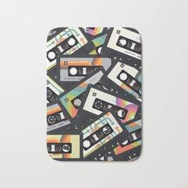 Retro Vintage Cassette Tapes Bath Mat