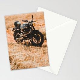 Old motorcycle photo, café racer, man cave gift, mancave, scrambler, cafe racer Stationery Cards