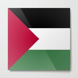 Palestine flag emblem Metal Print
