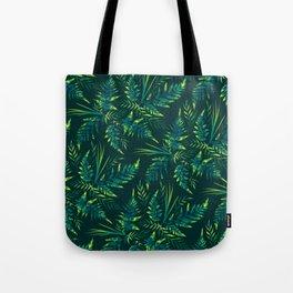 Fern leaves - green Tote Bag
