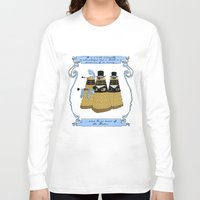 pride and prejudice Long Sleeve T-shirts featuring Pride and Prejudice and Daleks by mikaelak