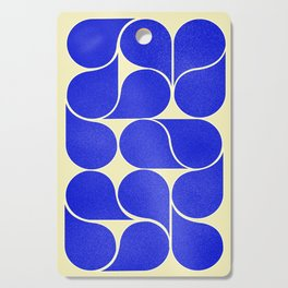 Blue mid-century shapes no8 Cutting Board