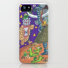 Alien May Day & Fire  Frogs iPhone Case
