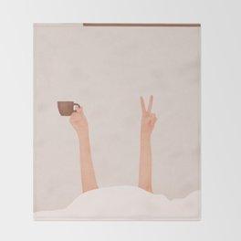 Good Peaceful Morning Throw Blanket