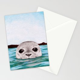 Peepin' Selkie Stationery Cards