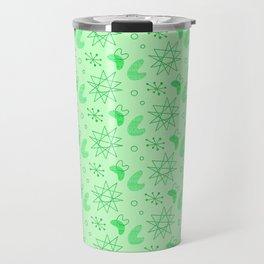 Neon Lime Green Midcentury Travel Mug