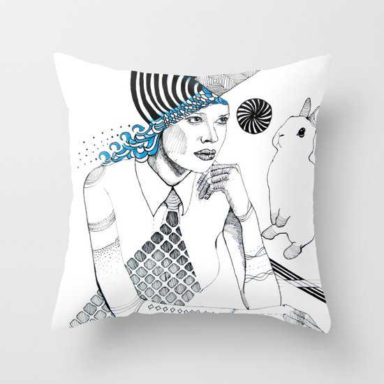 Mysterious Spin Throw Pillow